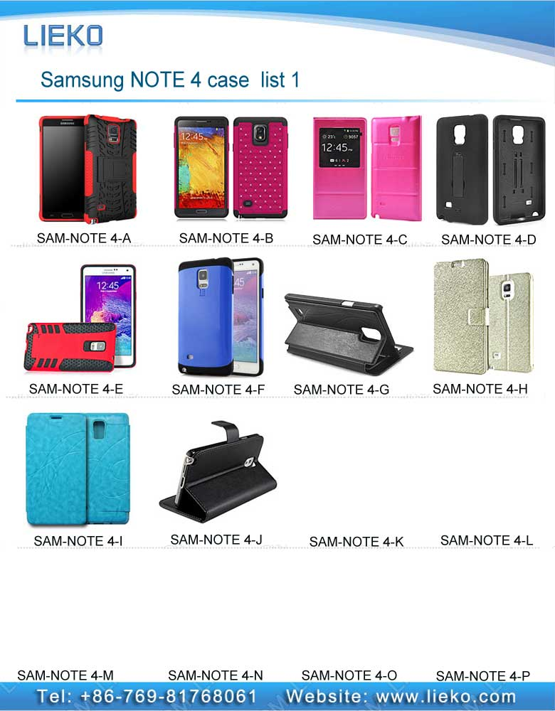 Samsung NOTE 4 case list 1|Index Products|