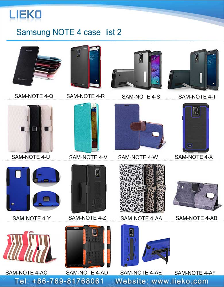 Samsung NOTE 4 case list-2|Index Products|