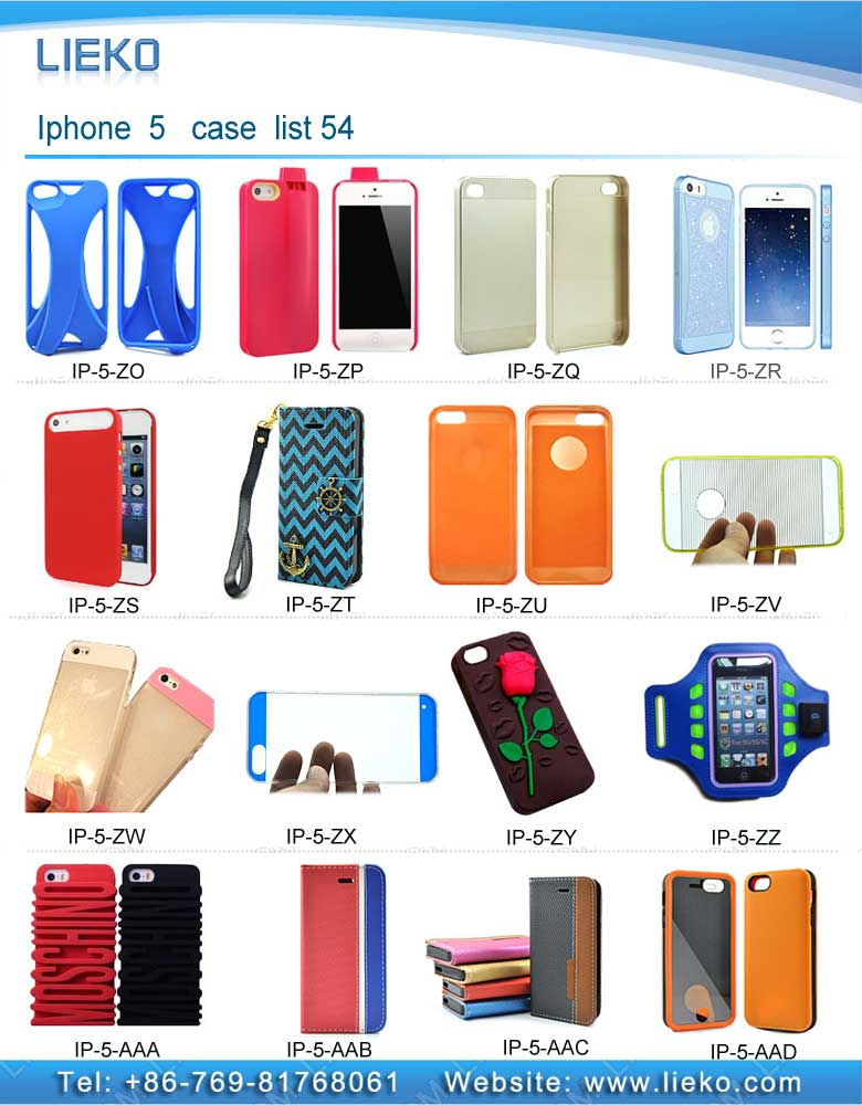 iPhone 5 case list 54|Index Products|