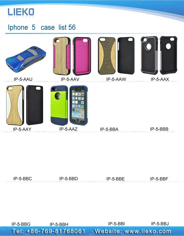 iPhone 5 case list 56|Index Products|